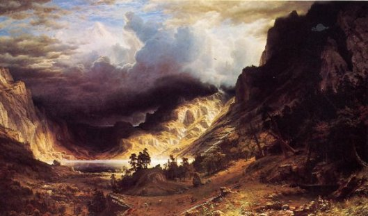 A Storm in the Rocky Mountains (Albert Bierstadt)